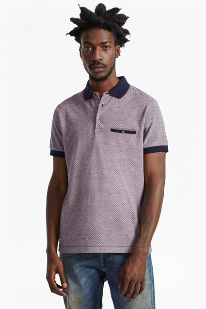 Oxford Pique Geo Polo Shirt