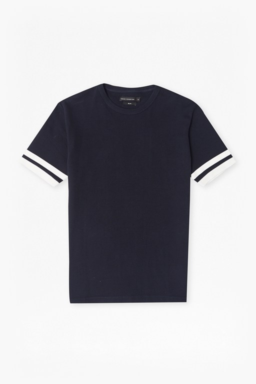 Complete the Look Ampthill Pique Sleeve Tipping T-Shirt