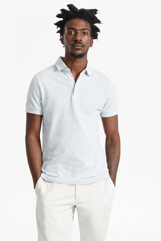 menon block stripe polo shirt