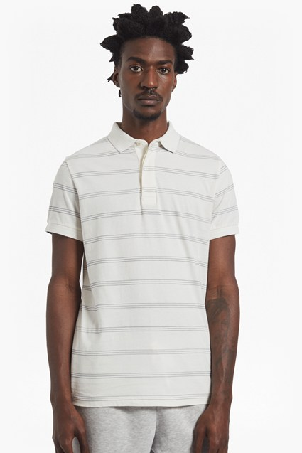 Wara Watercolour Striped Polo Shirt