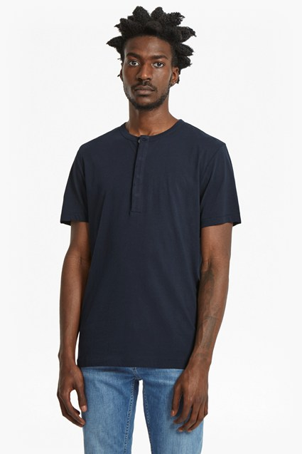 Plain Henley Short Sleeve T-Shirt