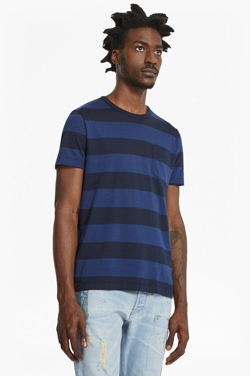 varsity view stripe t-shirt