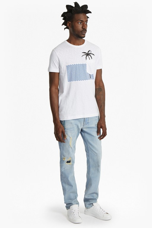 wavey palm printed t-shirt