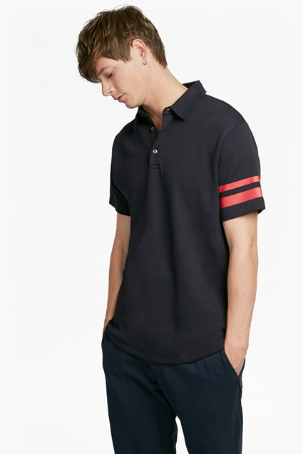 Track Stripe Polo Shirt