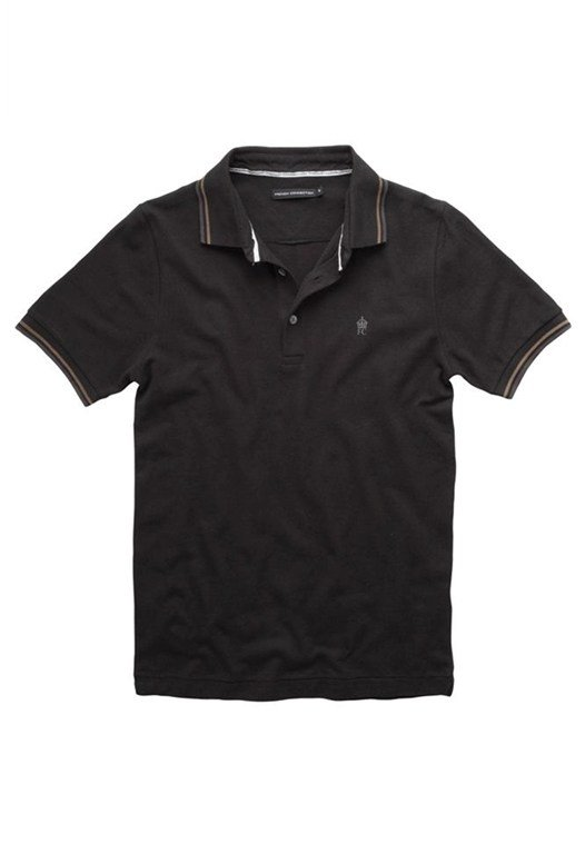 Short Sleeve Logo Polo Black
