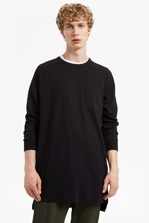 peached longline jersey sweatshirt