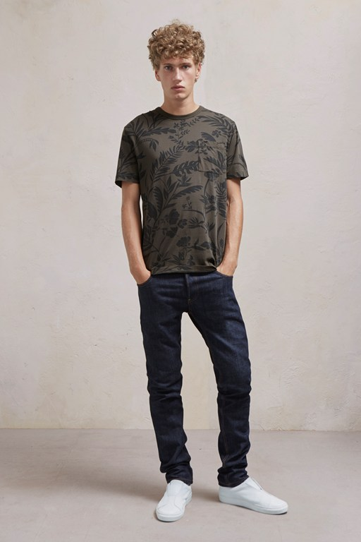 overdyed fumio floral jersey t shirt
