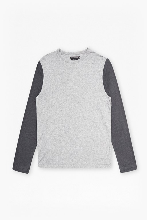 wool jersey contrast sleeve top