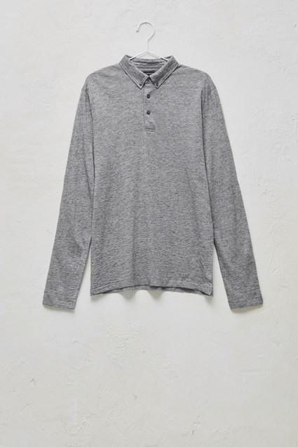 Wool Jersey Polo Shirt