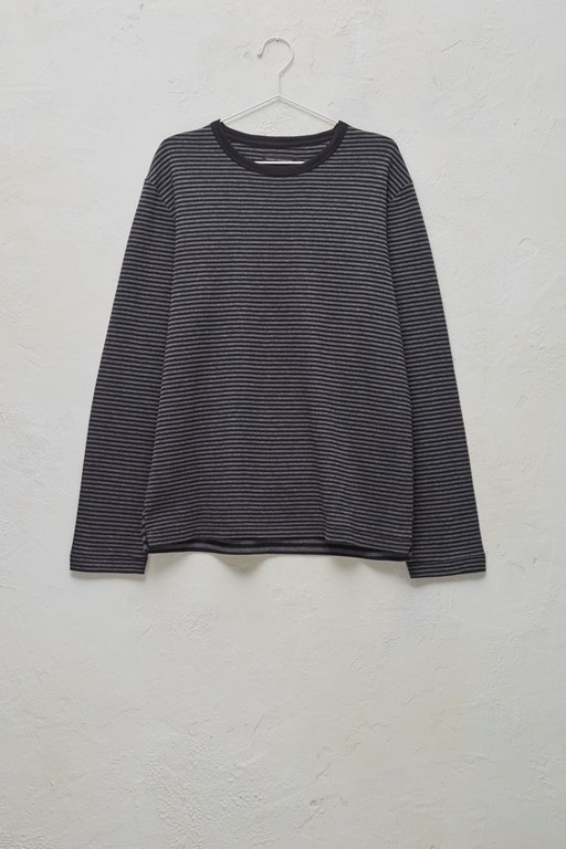 Complete the Look Double Face Alt Stripe Crew Neck Top