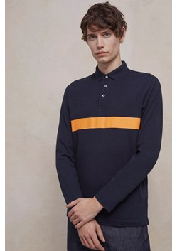 Parched Pique Cotton Stripe Polo Shirt