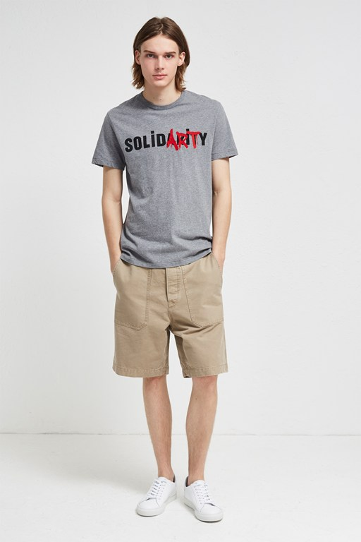 solidarity crew neck t-shirt
