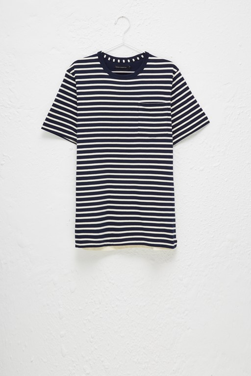 odd stripe mix t-shirt