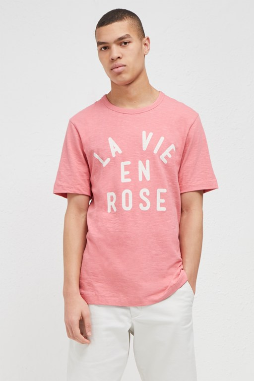 la vie en rose slogan t-shirt