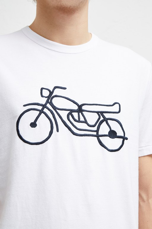 motorcycle embroidered t-shirt