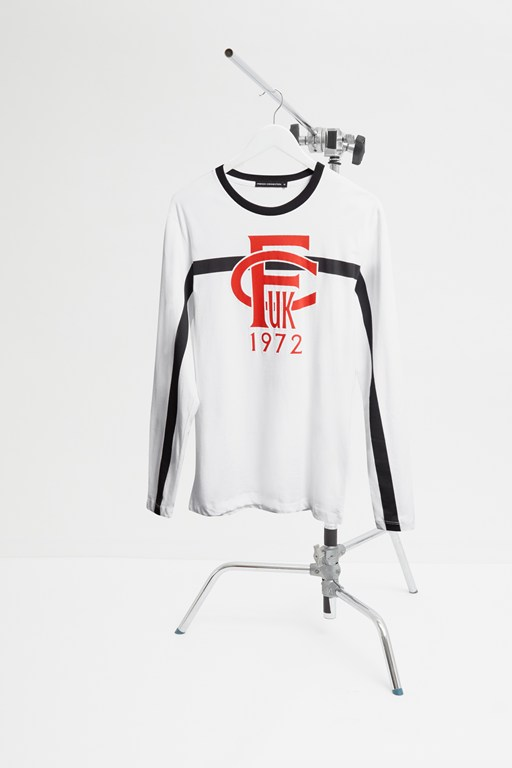 strike-through baseball top