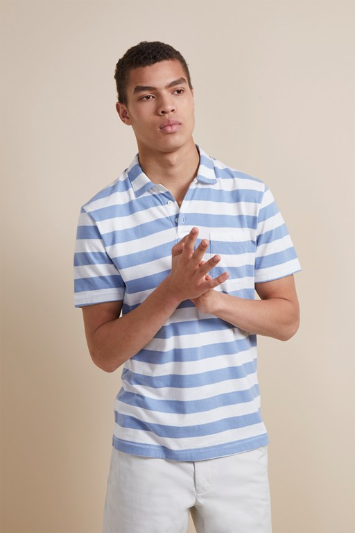 24's harbour stripe polo shirt