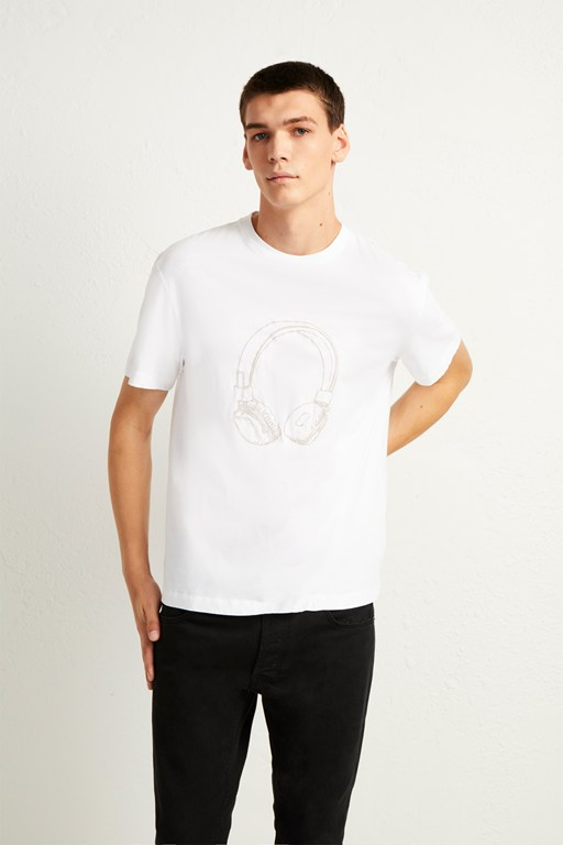 headphones tee