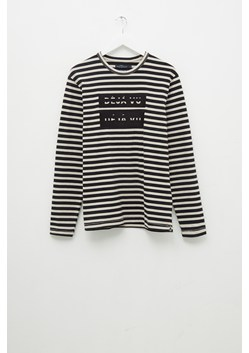 Deju Vu Striped Slogan T-Shirt