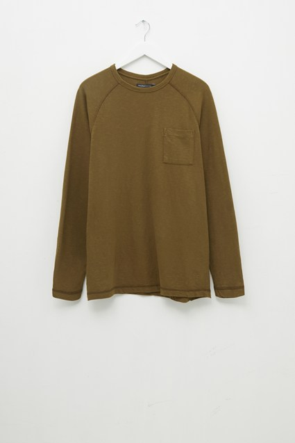 Plain Slub Long Sleeve T-Shirt