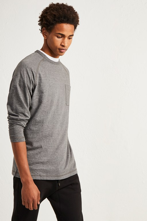 Complete the Look Plain Slub Long Sleeve T-Shirt