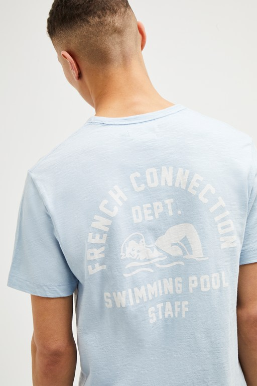 printed swimming slogan t shirt