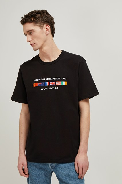 French Connection Worldwide Slogan T-Shirt
