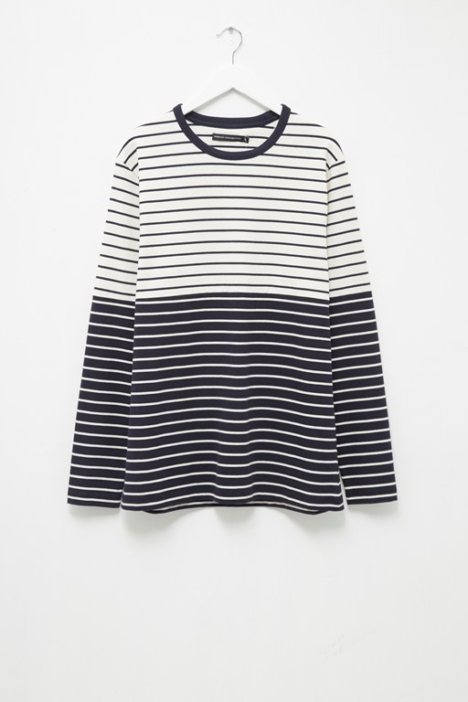 tim stripe crew neck top
