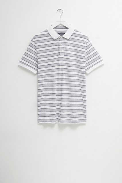 Melange Stripe Polo Shirt