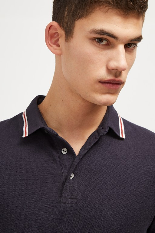 textured dobby jersey polo shirt