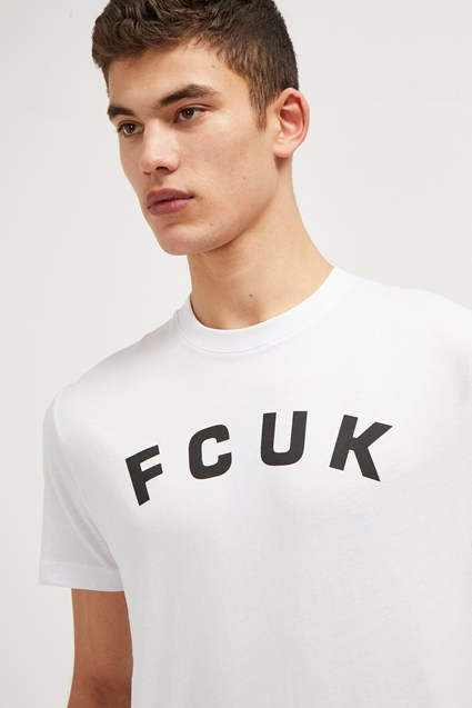 FCUK Arched Slogan T-Shirt