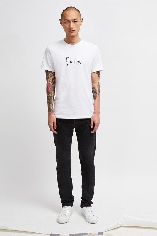 fcuk pencil slogan t-shirt
