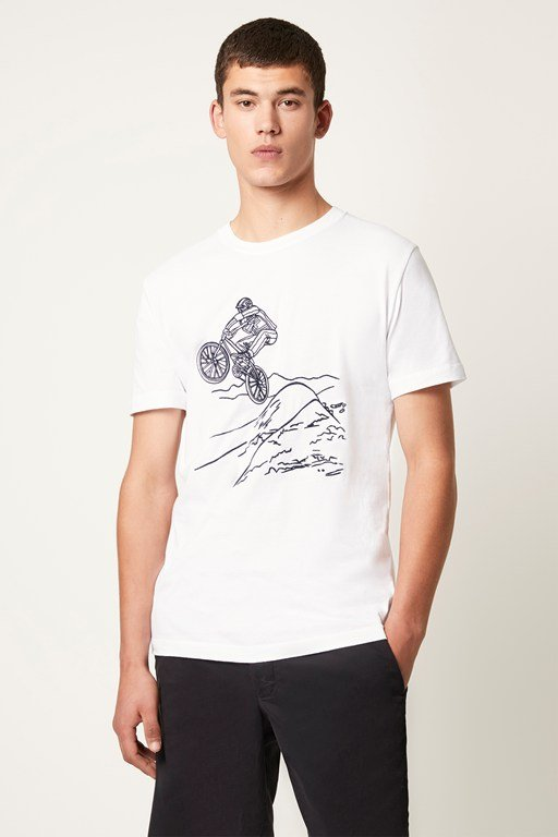 biker graphic t-shirt