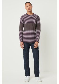 Contrast Stripe Long Sleeve T-shirt