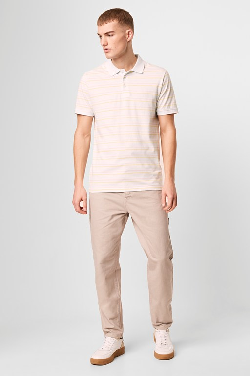 saru stripe polo shirt