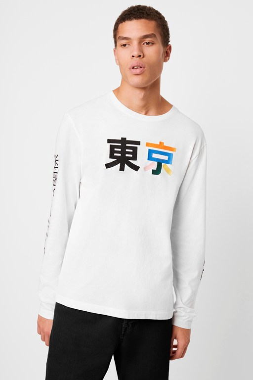 japanese character long sleeve t-shirt