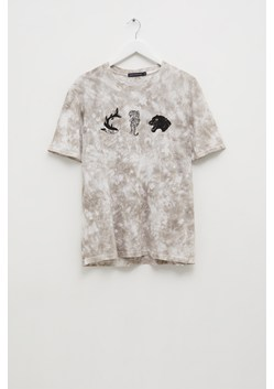 Stencilled Animals Tie Dye T-Shirt