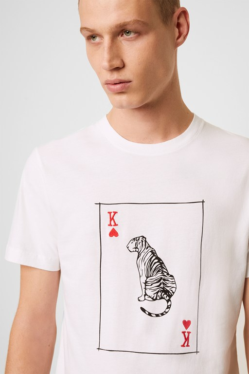 playing card tiger t-shirt