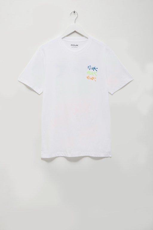 fcuk spray paint t-shirt