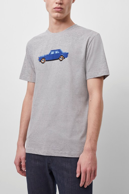 pixel car graphic t-shirt