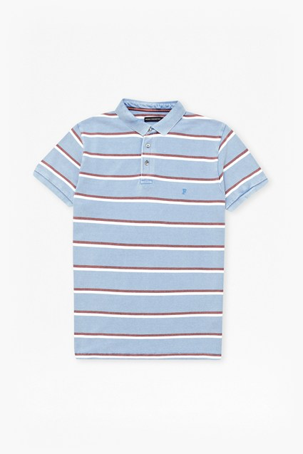 Bleached Stripe Polo Shirt
