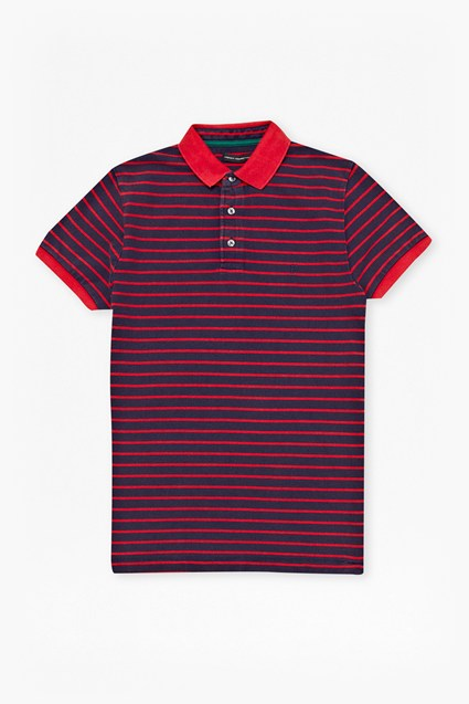 Bleached Stripe Marlon Polo Shirt