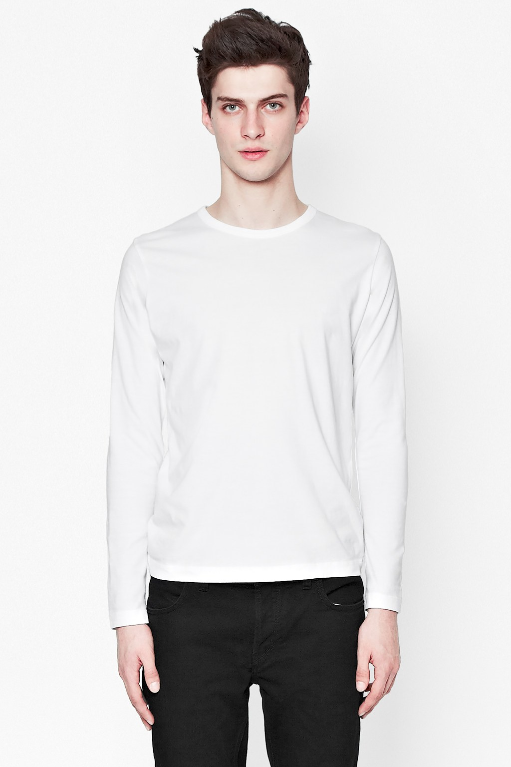 Classic Cotton Long Sleeve T-Shirt | Man | French Connection