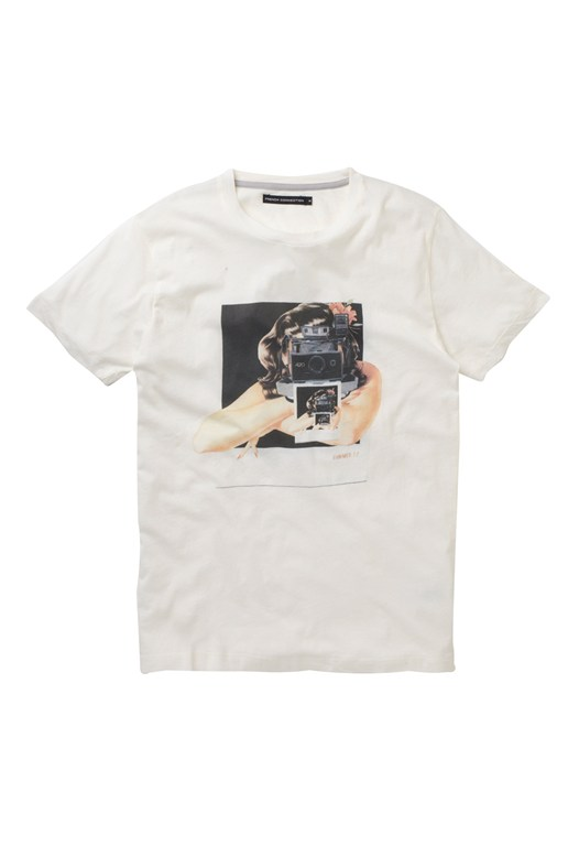 French Connection Instamatic Tee White