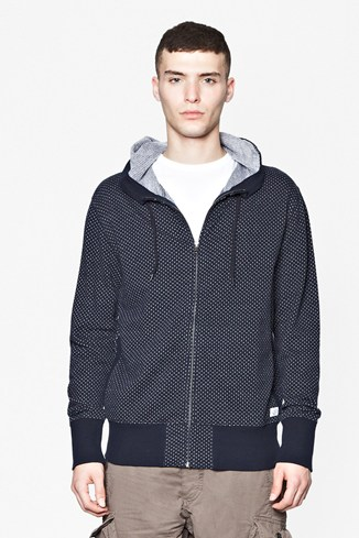 Jacquard Hooded Sweater
