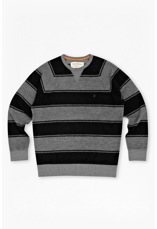 Reverse Stripe Raglan Sweater