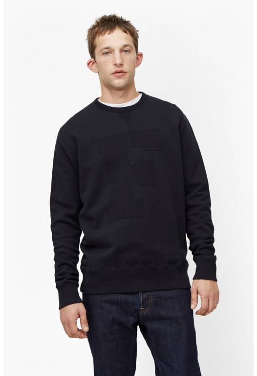 F Cotton Pique Sweatshirt