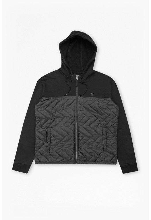 Quilted Zip Thru Hoody