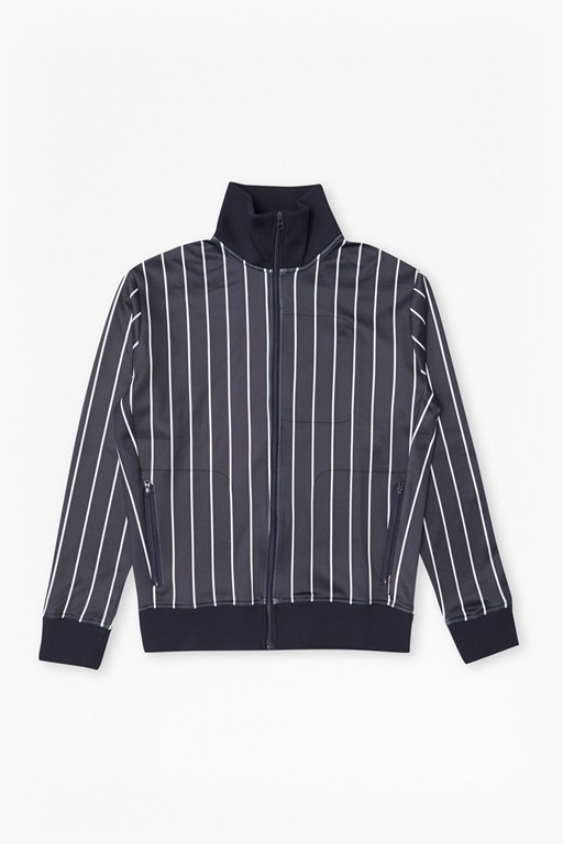 Complete the Look Dravid Striped Zip Thru Sweatshirt