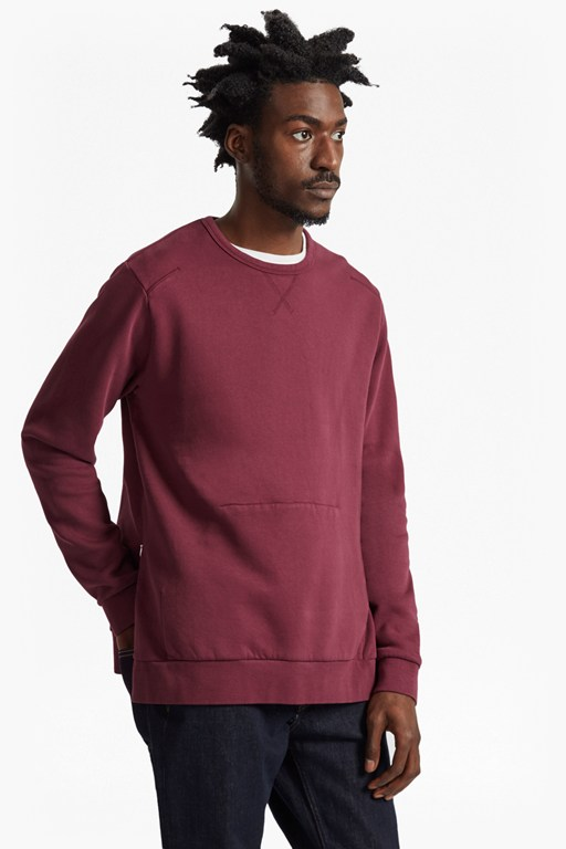 wasim side zipped sweatshirt